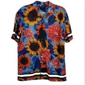 Zara Man Button Sunflower Perforated Shirt